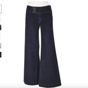 BCBGMaxAzria Tabatha Denim Trouser/Wide Leg Jeans